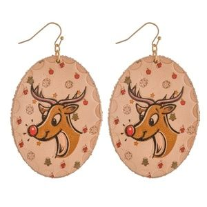 NWT  BOUTIQUE  ADORABLE REINDEER CHRISTMAS EARRING